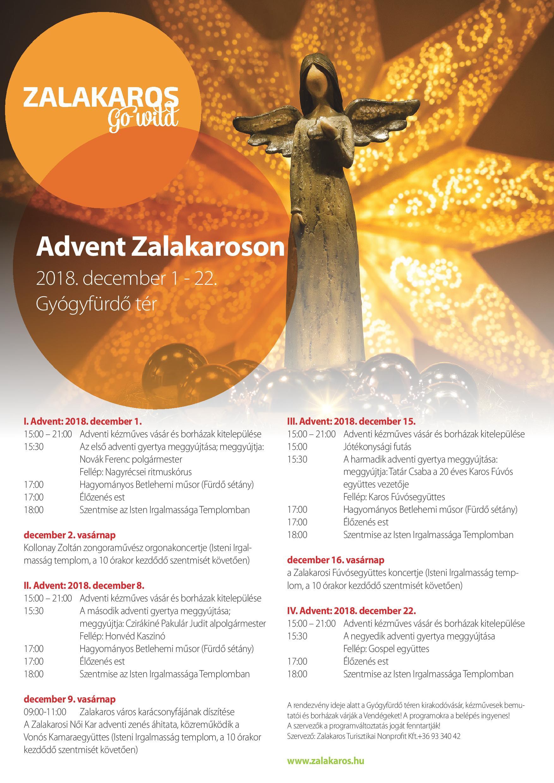 Adventi programok Zalakaroson