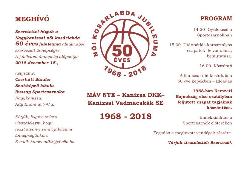 Női Kősárlabda 50 éves Jubileuma