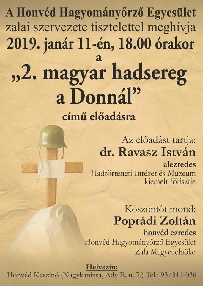 """""""2. Magyar hadsereg a Donnál""""  – emlékest a doni tragédiáról"""