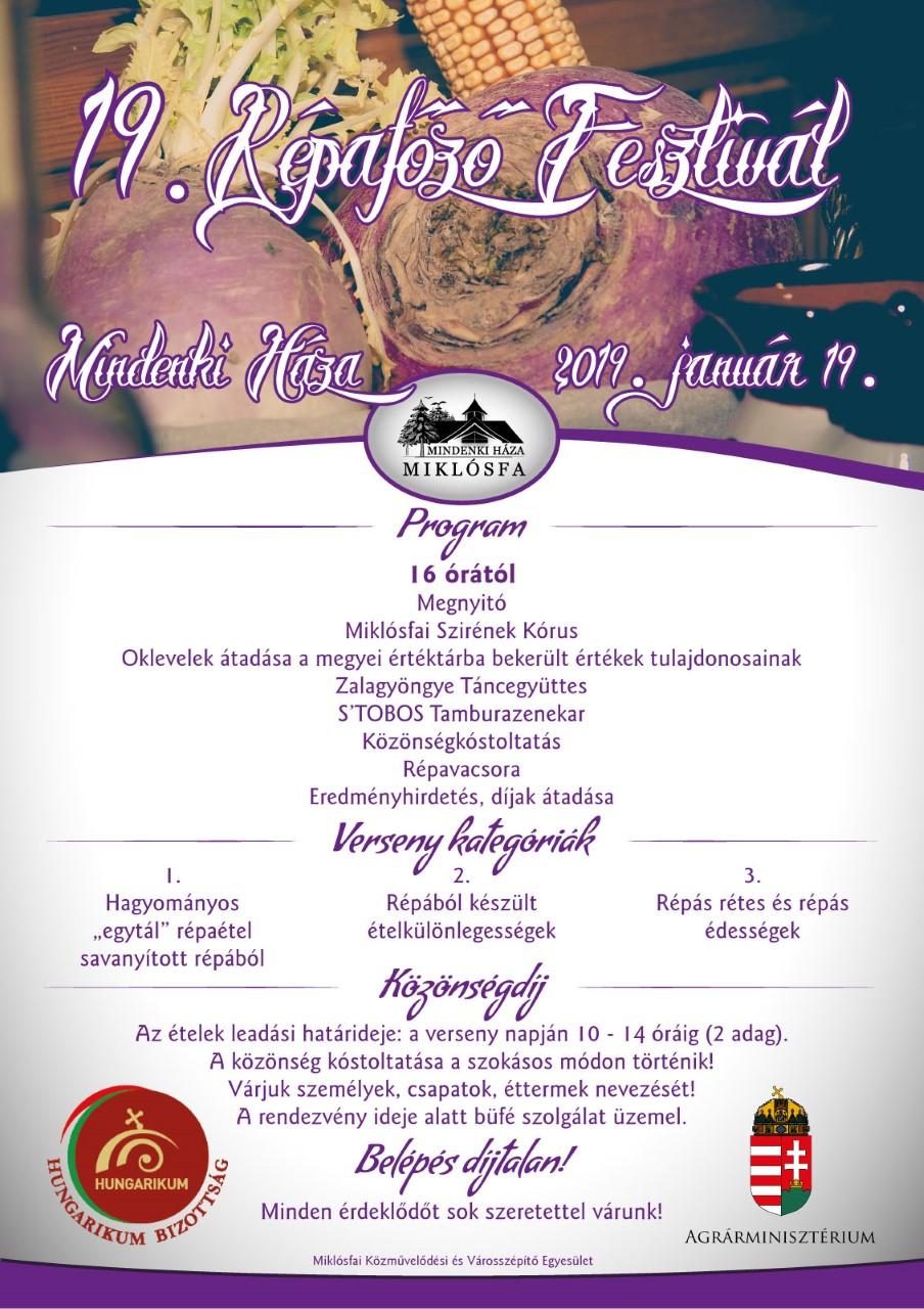 XIX. Miklósfai Répafőző Fesztivál