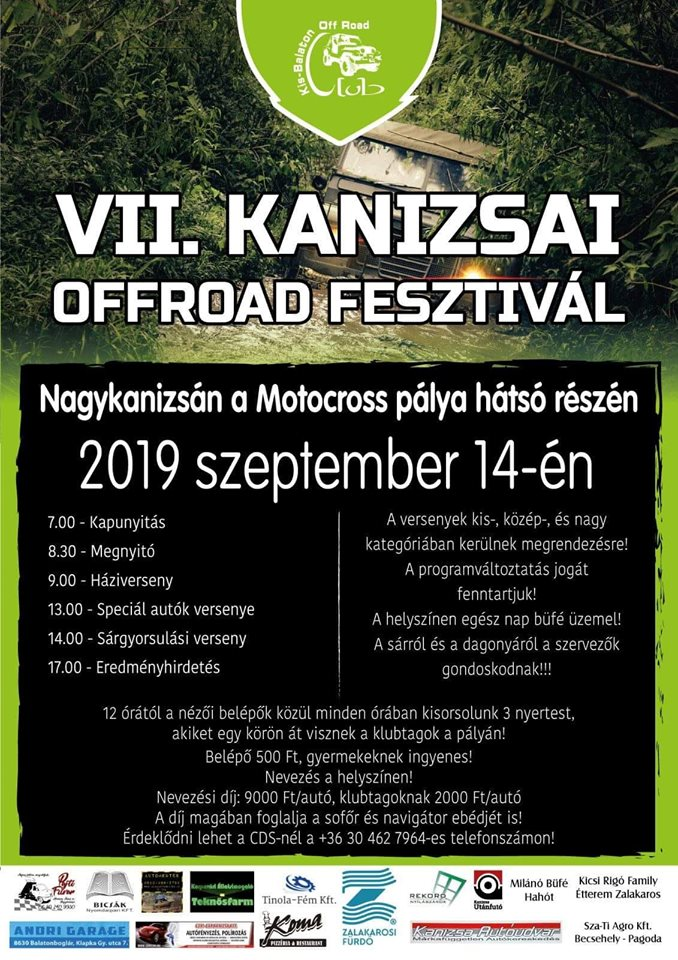 VII. Kanizsai Offroad fesztivál