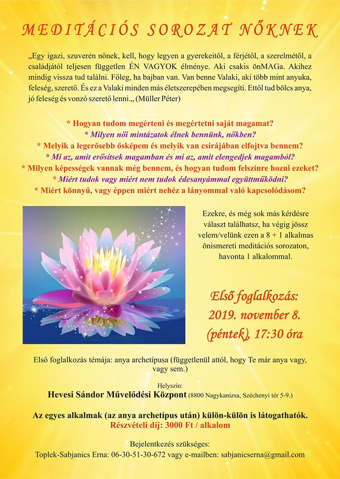 Meditációs sorozat nőknek