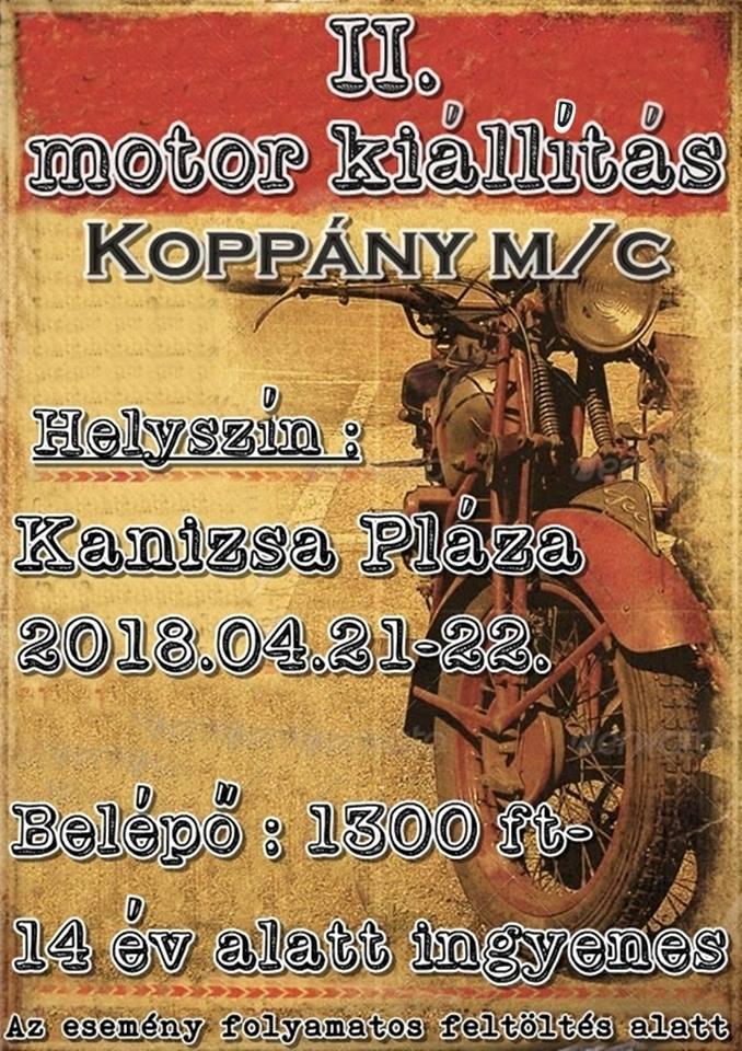II. motor kiállítás Koppány M/C Hungary