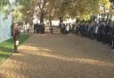 Ünneplőbe öltözött diákok