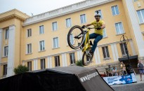 Kerékpáros látványbemutatókkal folytatódott a Giro-váró fesztivál, fotó: Gergely Szilárd