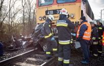 Meghalt egy ember, aki autójával vonattal ütközött Nagykanizsán, fotó: Gergely Szilárd