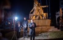 Petőfi Sándor születésének 196. évfordulójára emlékeztek a Deák téren