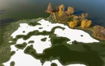 Tél a nagykanizsai Csónakázó-tavon