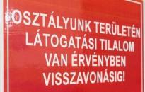 Részleges látogatási tilalmat rendeltek el a Kanizsai Dorottya Kórházban