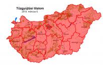 Nébih: az egész országra kiterjesztették a tűzgyújtási tilalmat