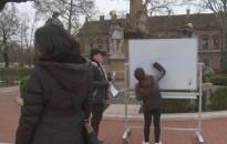 Képversekkel ünnepelték a Bolyai-iskola tanulói a magyar költészet napját