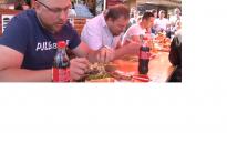 Hamburgerevő versenyt is rendeztek a Város napján