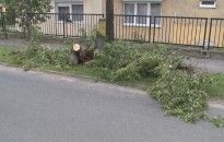 Ma is okozott károkat a szélvihar Nagykanizsán