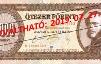 MNB: néhány hónapon belül lejár a 20 éve bevont forintbankjegyek átváltási határideje
