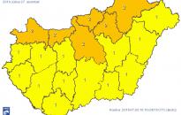 Országszerte zivatarra, felhőszakadásra figyelmeztetnek