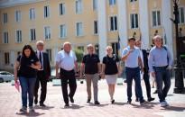 Nagykanizsára látogatott a Giro d'Italiát szervező stáb