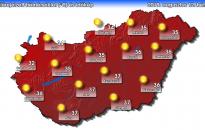 Az év legmelegebb napja lehet a hétfő