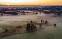 Hajnali köd Nagykanizsa közelében