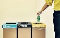 Szelektív hulladékgyűjtés az Országos Bírósági Hivatal épületében