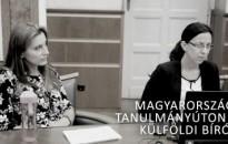 Külföldi bírók Magyarországi tanulmányúton