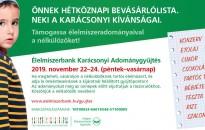 Országosan több mint 200 áruházban szervez Karácsonyi Adománygyűjtést a Magyar Élelmiszerbank Egyesület november 22. és 24. között