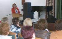 Az időskor tipikus betegségeiről és azok gyógykezeléséről tartott előadást dr. Kertész Mónika