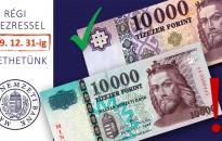 Már csak év végéig lehet fizetni a régi 10 000 forintos bankjegyekkel
