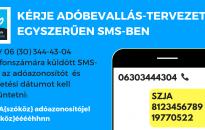 Még egy hónapig akár SMS-ben is kérhető az szja-bevallási tervezet postázása