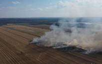 Öt hektáron égett a gabonamező Miklósfán