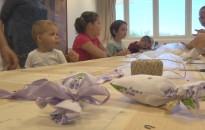 Levendulazsákot készítettek a kézműves játszóházban