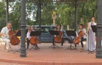 Csellókoncert az Erzsébet téren
