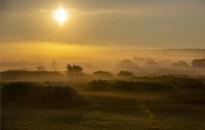 Fotókon a hajnali köd Palinnál