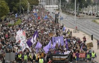 Tüntetést tartottak az Index-ügy miatt Budapesten