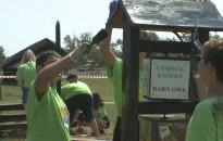 Bivalyrezervátumban dolgoznak a Kis-Balaton Építő Tábor diákjai
