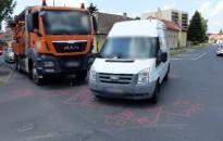Teherautók ütköztek Kanizsán – Ketten megsérültek