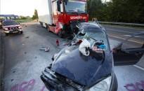 Teherautó és személygépkocsi ütközött a 7-es főúton, a   kanizsai Park Centernél