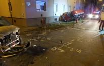 Ketten könnyebben megsérültek a Batthyány utcai balesetben