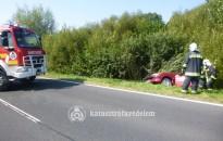 Árokba csapódott egy autó a 7-es főúton Kanizsa közelében
