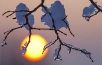 Havas táj, felkelő Nap Zalában