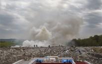 Tűz keletkezett a nagykanizsai hulladéklerakó területén