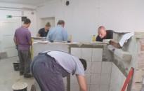A burkoló szakma felnőtt tanulói vizsgáztak Kanizsán