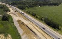 Jól haladnak az M70-es autóút kiszélesítésének munkálatai