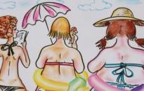 Karikatúrák jöttek Békéscsabáról, amely a Balaton szerelmeseit is érdekli