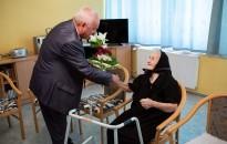 Kilencvenedik születésnapja alkalmából köszöntötték Lancsák Lajosnét