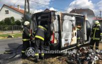 Öngyújtókat szállító autó gyulladt ki Zalaegerszegen