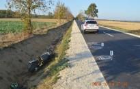 Árokba hajtott egy motoros, súlyosan megsérült