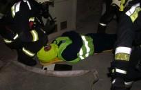 Mentést gyakoroltak a kanizsai kórházban a tűzoltók