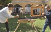 A kovácsolást és a faművességet is kipróbálhatták a gyerekek a hétvégén a múzeumban