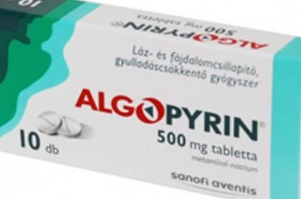 Ismét vény nélkül kapható az Algopyrin és más, metamizol tartalmú gyógyszerek