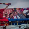 Győztes ünnep a Bányász-stadionban, fotó: Gergely Szilárd